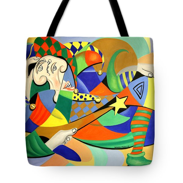 The Kings Jester Tote Bag by Anthony Falbo