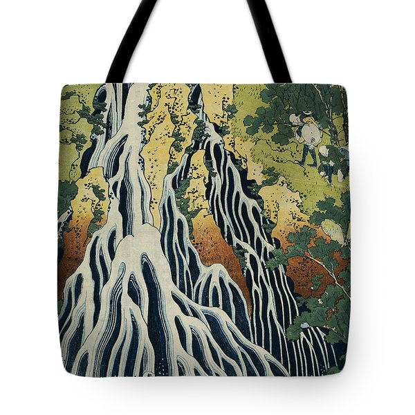 The Kirifuri Waterfall Tote Bag by Hokusai