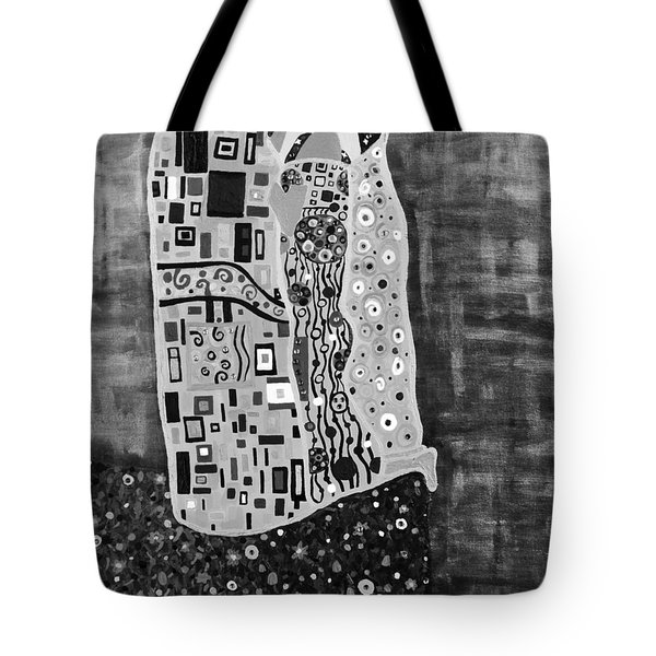 The Kiss Bw Tote Bag by Angelina Vick