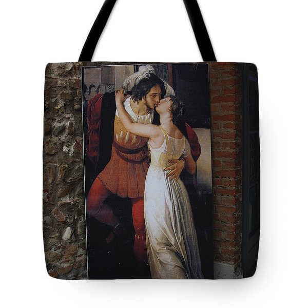 The Kiss Of Romeo And Julieta Tote Bag by Natalie Ortiz