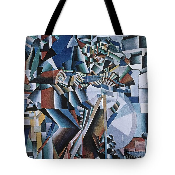 The Knife Grinder Tote Bag by Kazimir  Malevich