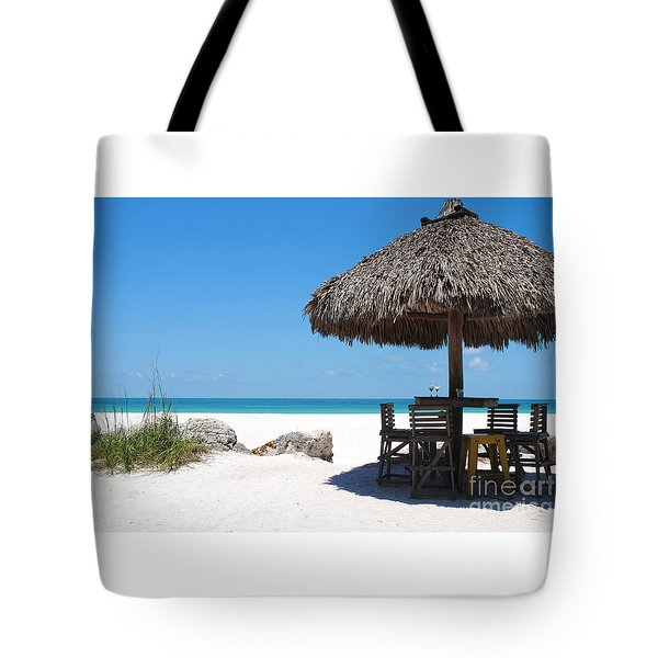 The Kokonut Hut  Tote Bag by Margie Amberge