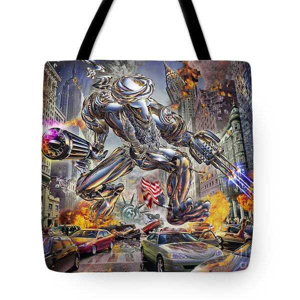 The Ladenator Tote Bag by Adrian Chesterman
