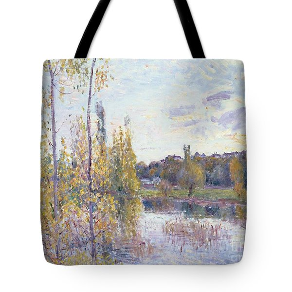 The Lake At Chevreuil Tote Bag by Alfred Sisley
