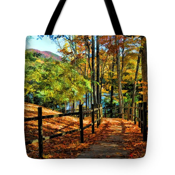 Tote Bag featuring the photograph The Lake Path by Kenny Francis
