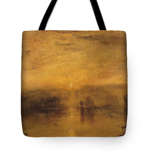 The Lake, Petworth Sunset, A Stag Drinking, C.1829 Tote Bag