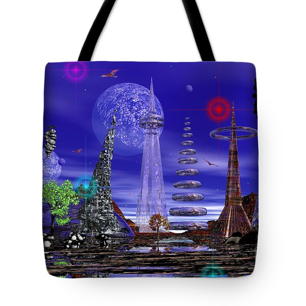The Lakes Of Zorg Tote Bag by Mark Blauhoefer