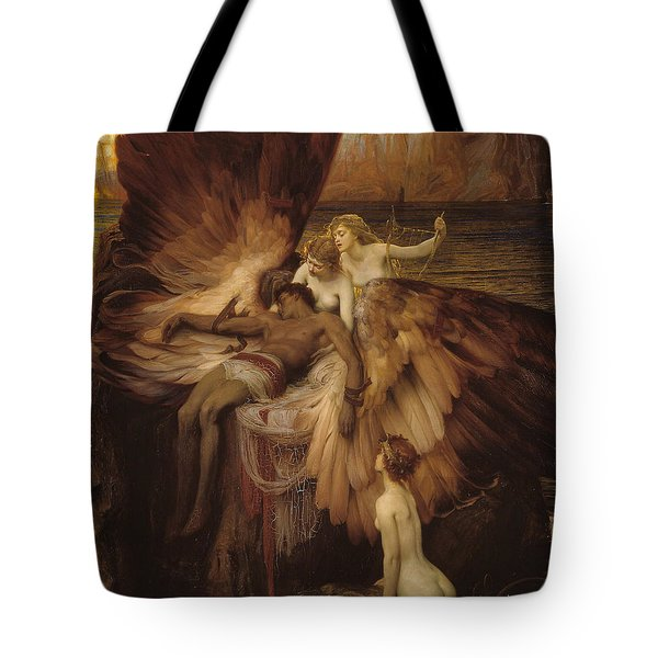 Tote Bag featuring the painting The Lament For Icarus by Herbert James Draper