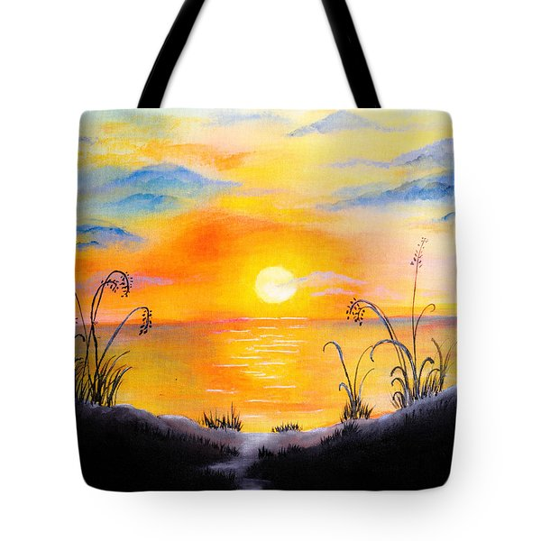 The Land Of The Dying Sun Tote Bag by Nirdesha Munasinghe