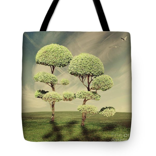 The Land Of The Lollipop Trees Tote Bag by Linda Lees