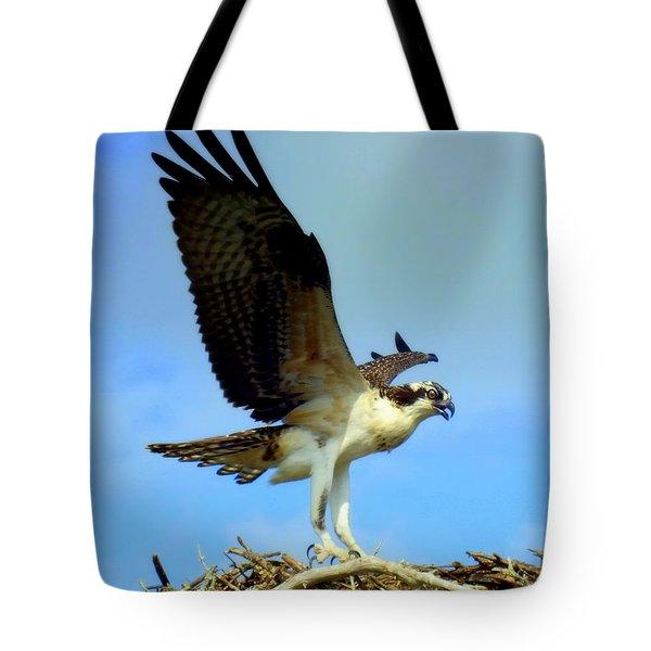 The Landing Tote Bag by Karen Wiles