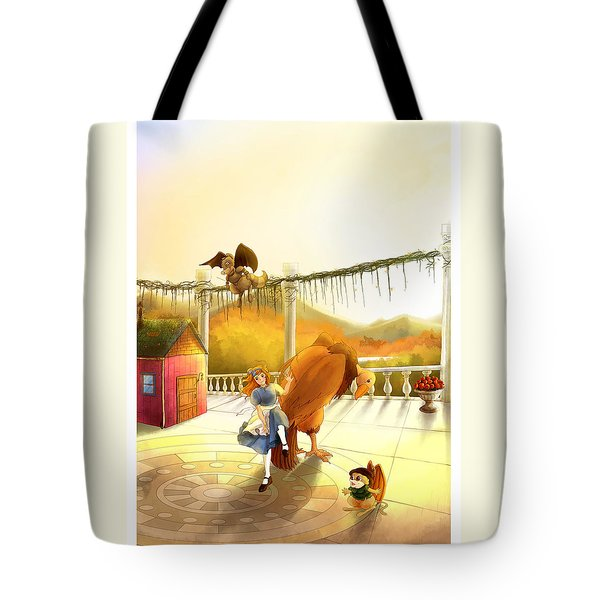 The Landing On The Balcony  Tote Bag