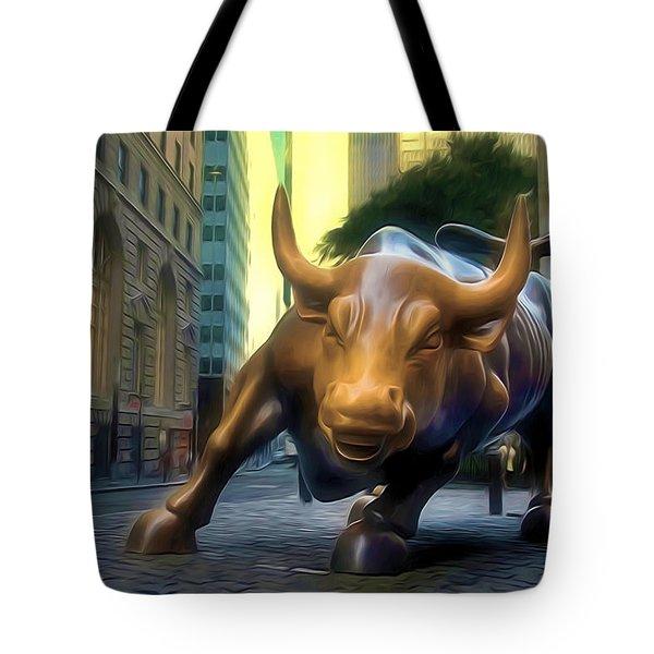 The Landmark Charging Bull In Lower Manhattan 2 Tote Bag