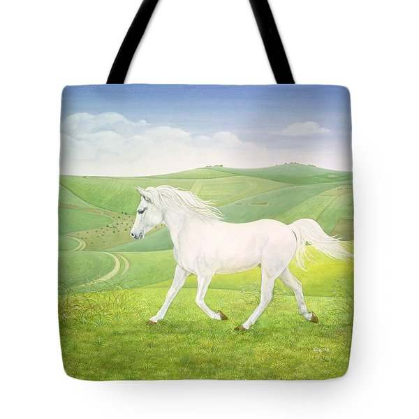 The Landscape Horse Tote Bag by Ditz