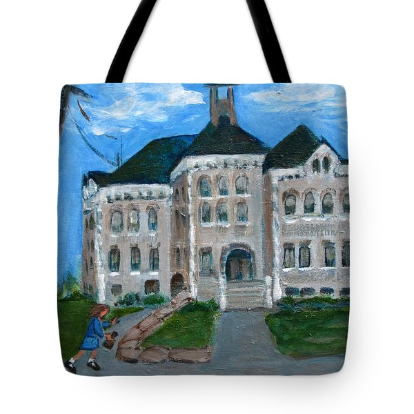 The Last Bell At West Hill School Tote Bag by Betty Pieper
