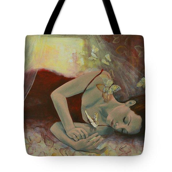 The Last Dream Before Dawn Tote Bag by Dorina  Costras