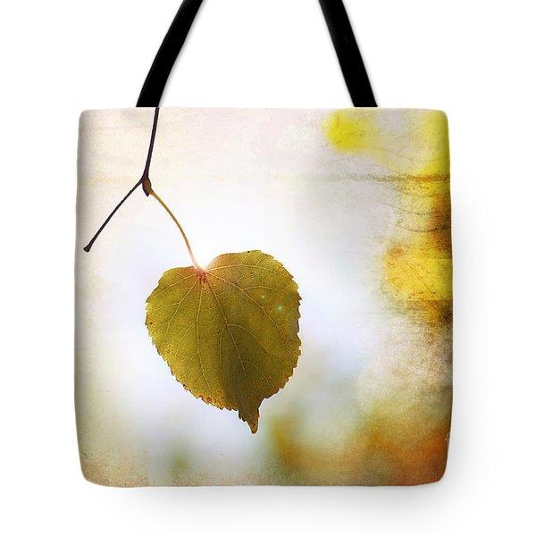 The Last Leaf Tote Bag by Nishanth Gopinathan