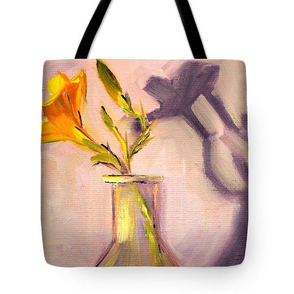 The Last Lily Tote Bag by Nancy Merkle