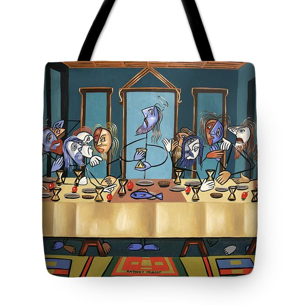 Tote Bag featuring the painting The Last Supper by Anthony Falbo