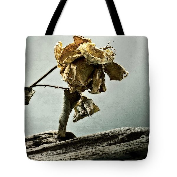 The Last Yellow Rose Of Summer Tote Bag