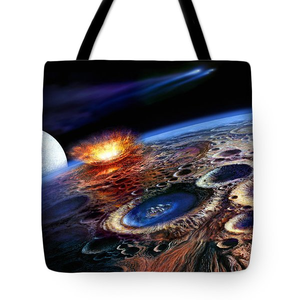 The Late Heavy Bombardment Tote Bag by Don Dixon