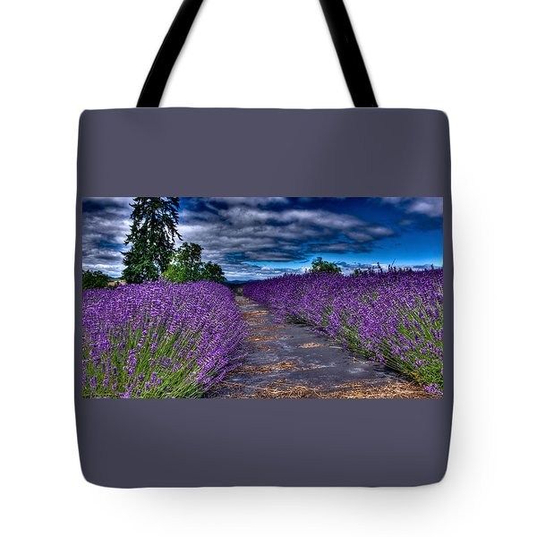 Tote Bag featuring the photograph The Lavender Field by Thom Zehrfeld