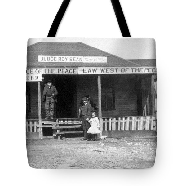 The Law West Of The Pecos Tote Bag