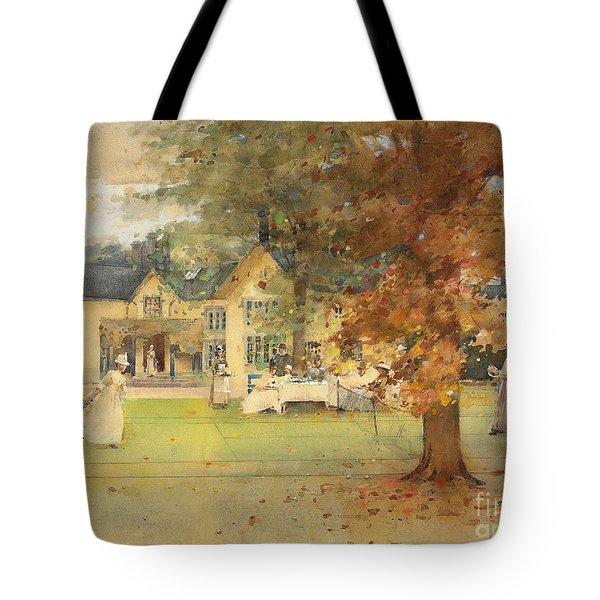 The Lawn Tennis Party Tote Bag by Arthur Melville