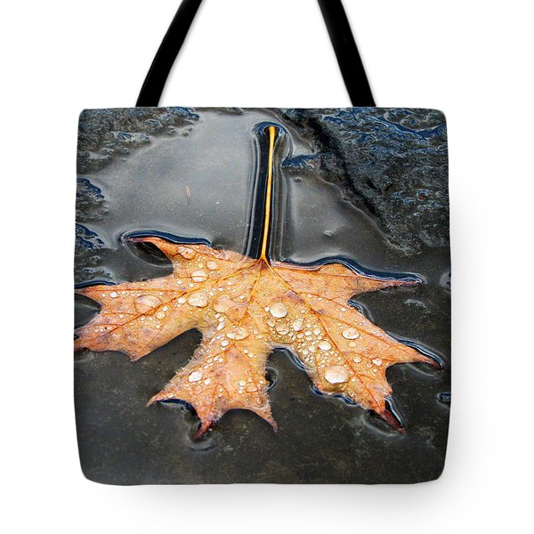Tote Bag featuring the photograph Surface Tension by John Freidenberg