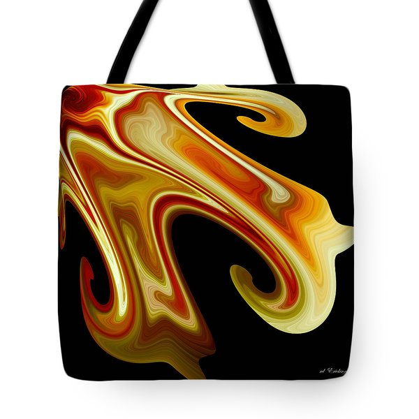 Tote Bag featuring the digital art The Left Corner by rd Erickson