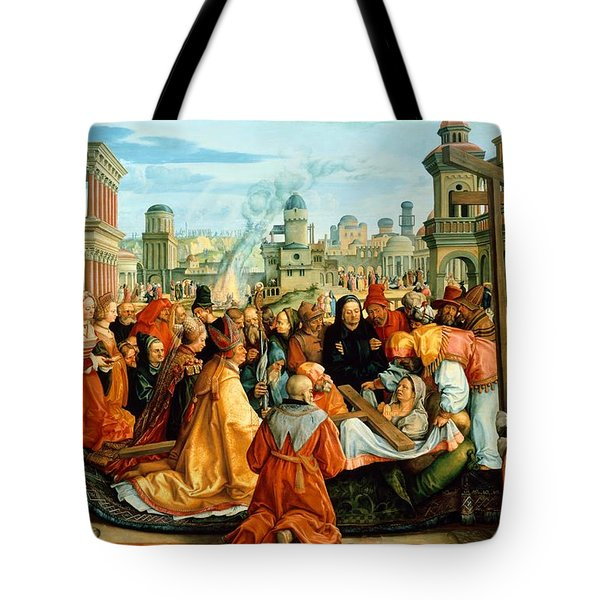 The Legend Of The Holy Cross Tote Bag by Barthel Beham