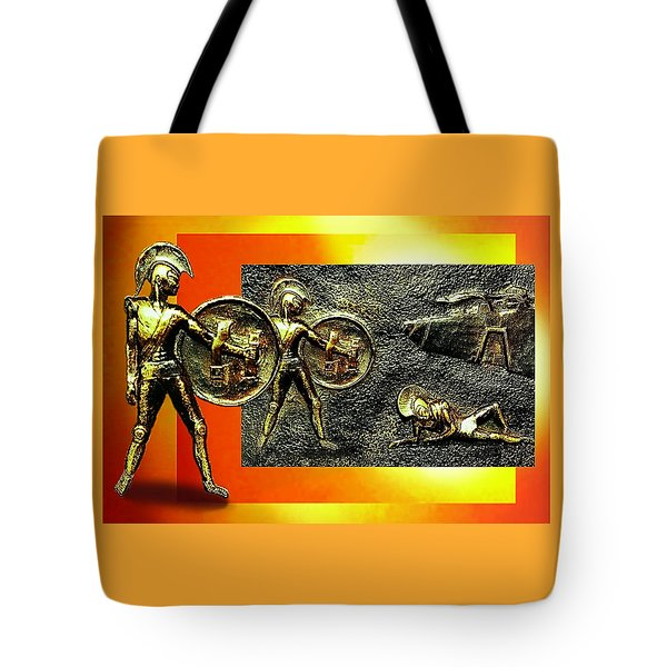 Tote Bag featuring the relief The Legends Of Troy. . .  by Hartmut Jager