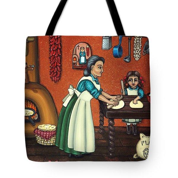 The Lesson Or Making Tortillas Tote Bag