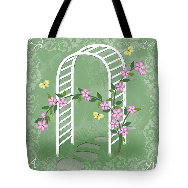 The Letter A For Arbor Tote Bag by Valerie Drake Lesiak