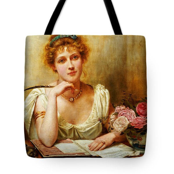 The Letter  Tote Bag by George Goodwin Kilburne