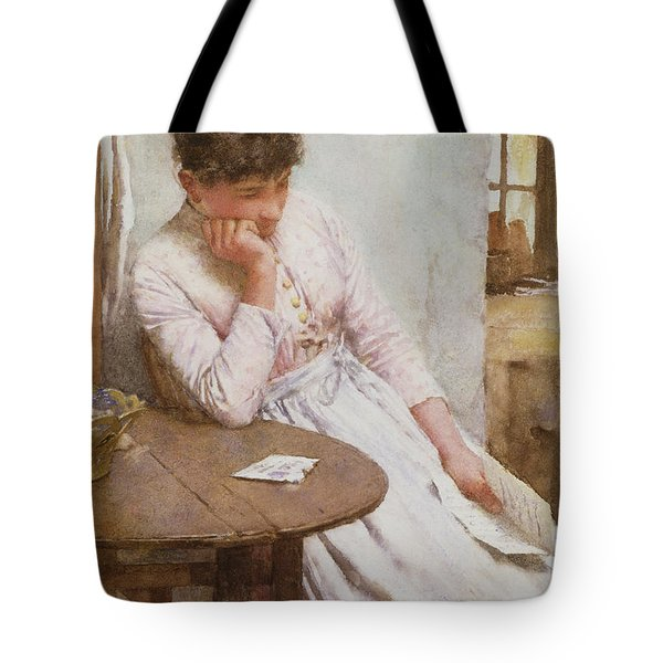 The Letter  Tote Bag by Walter Langley