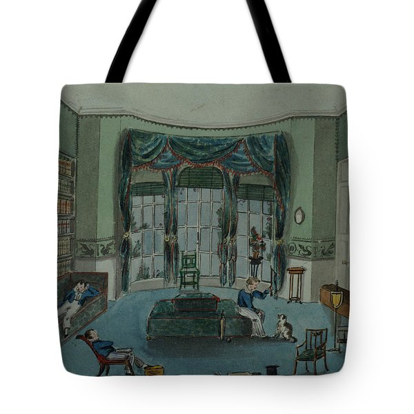 The Library, C.1820, Battersea Rise Tote Bag by English School
