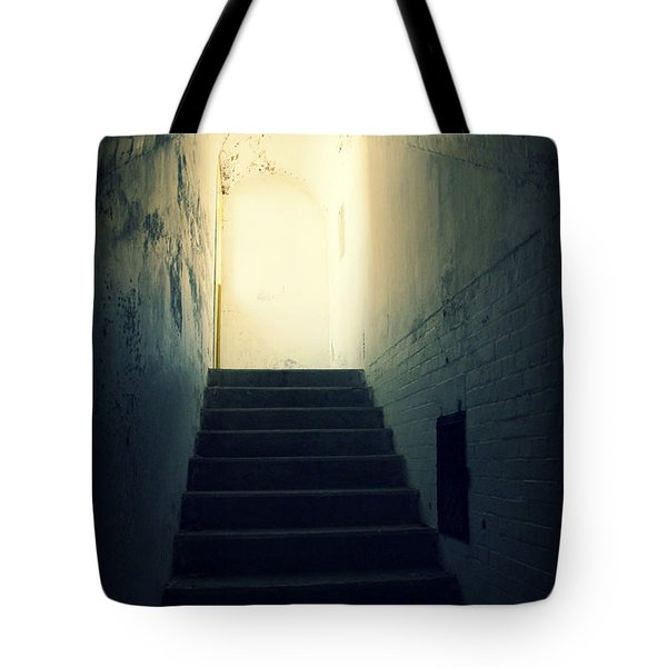 The Light At The Top Of The Stairs Tote Bag