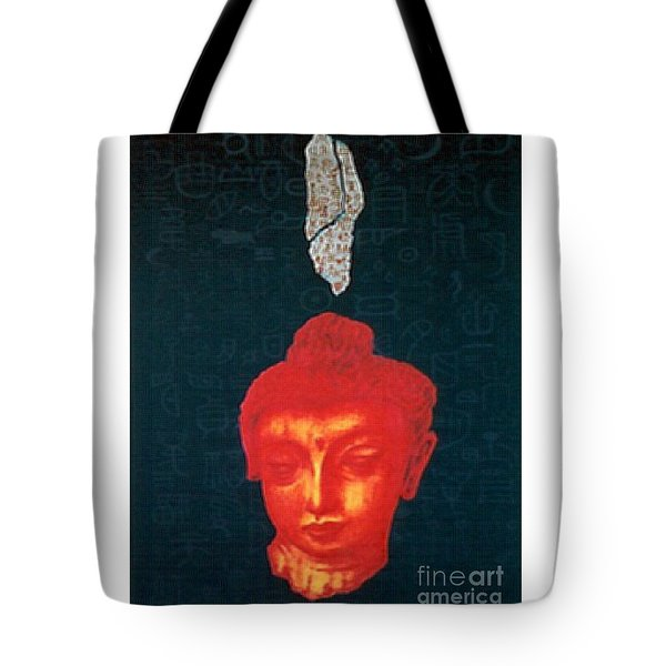 Tote Bag featuring the painting The Light Of Face_ Sold by Fei A