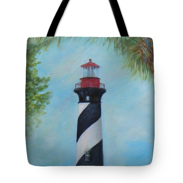 The Lighthouse In St. Augustine Florida Tote Bag