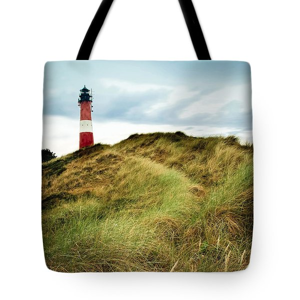 the lighthouse of Hoernum Tote Bag by Hannes Cmarits