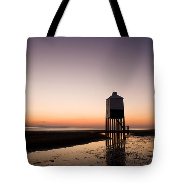 The Lighthouse On Legs Tote Bag by Anne Gilbert