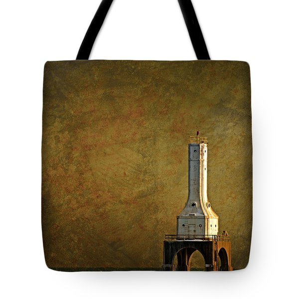 The Lighthouse - Port Washington Tote Bag by Mary Machare