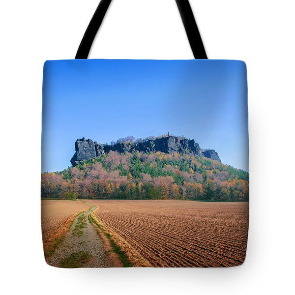 The Lilienstein On An Autumn Morning Tote Bag