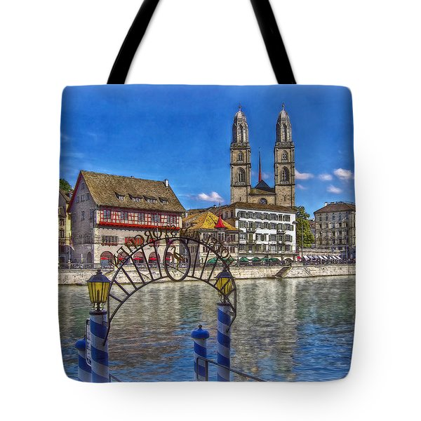 The Limmat City Tote Bag by Hanny Heim