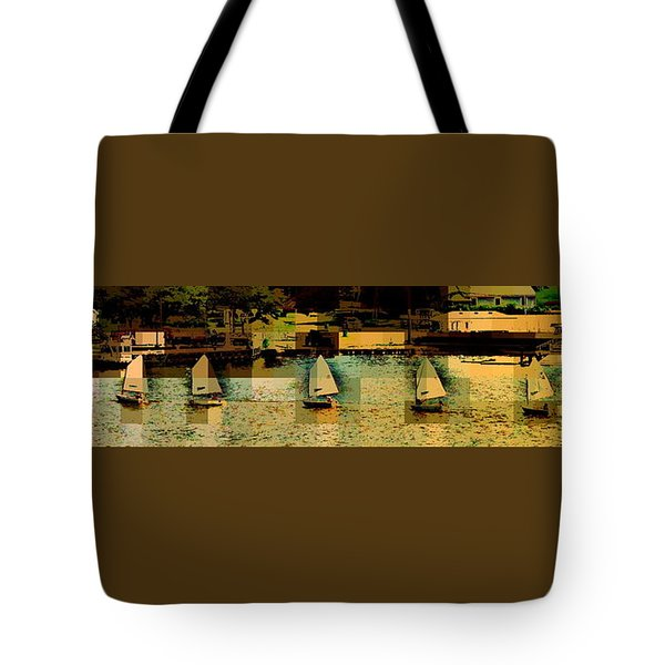 Tote Bag featuring the photograph The Line Up by Jodie Marie Anne Richardson Traugott          aka jm-ART