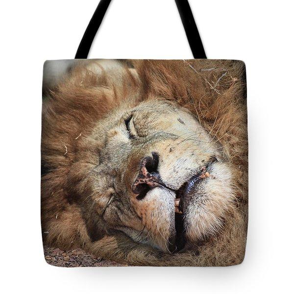 The Lion Sleeps Tonight V4 Tote Bag by Douglas Barnard