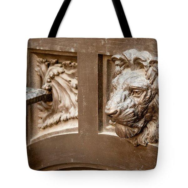 The Lion's Head Door Tote Bag
