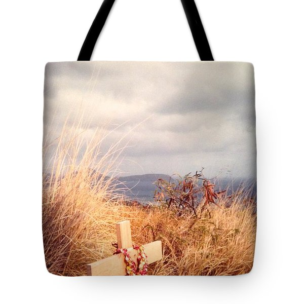 Tote Bag featuring the photograph The Little Cross by Carla Carson