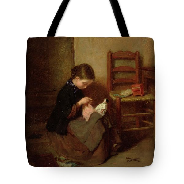 The Little Dressmaker Tote Bag by Pierre Edouard Frere